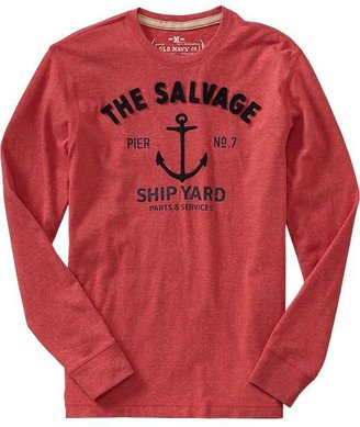 Old Navy Men's Graphic-Applique Long-Sleeve Tees