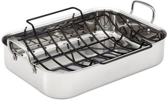 Anolon 17x12.5-in. Nonstick Tri-ply Clad Rectangular Roaster with Rack