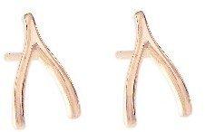 Jennifer Meyer Rose Gold Wishbone Studs
