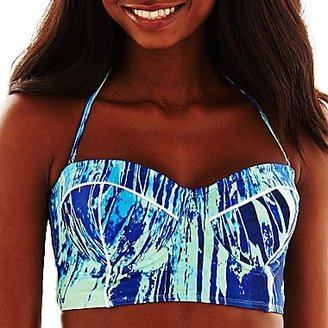 JCPenney 96 Degrees Watercolor Midkini Swim Top
