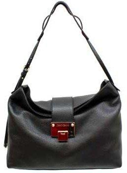 "Jimmy Choo Rachel"" Black Leather Shoulder Bag"