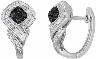 Black Diamond FINE JEWELRY 1/3 CT. T.W. White & Color-Enhanced Sterling Silver Earrings