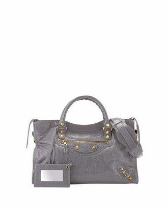 Balenciaga Giant 12 Golden City Bag, Dark Gray $1,985 thestylecure.com