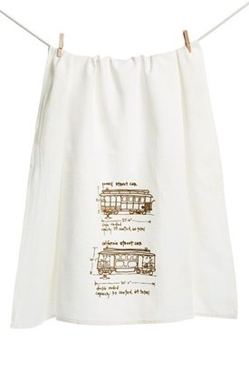 Girls Can Tell 'San Francisco Cable Cars' Tea Towel