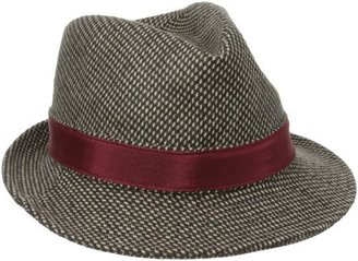 San Diego Hat Company San Diego Hat Women's Up-Cycled Tweed Fedora Hat with Feather
