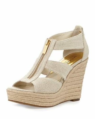 MICHAEL Michael Kors Damita Zip-Front Wedge Sandal $99 thestylecure.com