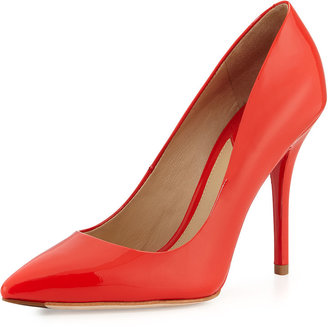 Brian Atwood B by Joelle Point-Toe Leather Pump, Flame