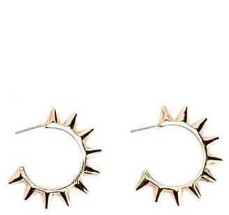 Charlotte Russe Spiked Metallic Hoop Earrings