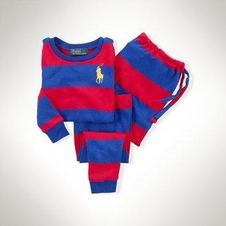 Rugby-Striped Cotton Sleep Set