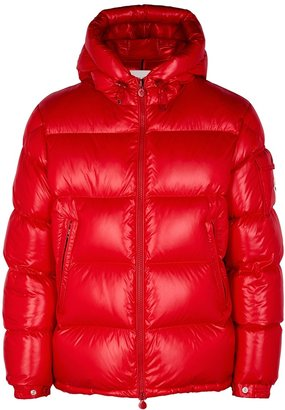 Moncler Ecrins Red Quilted Shell Jacket