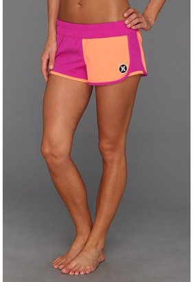 Hurley Phantom Block Party Beachrider (Juniors) (Hot Purple) - Apparel