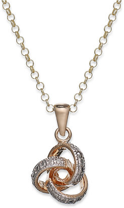 Victoria Townsend 18k Gold over Sterling Silver Necklace, Diamond Accent Love Knot Pendant