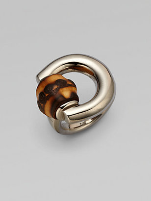 Gucci Bamboo Horsebit Sterling Silver Ring