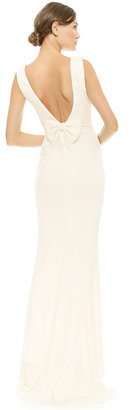 Badgley Mischka Collection Bow Back Gown $575 thestylecure.com