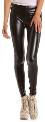 Charlotte Russe Glossy Black Liquid Legging