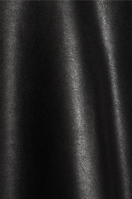 Neil Barrett Faux leather-paneled cotton-jersey T-shirt