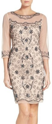 Women's Pisarro Nights Beaded Mesh Sheath Dress $168 thestylecure.com