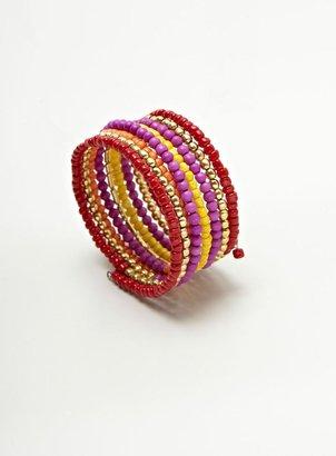Stein & Blye Beaded Coil Bracelets