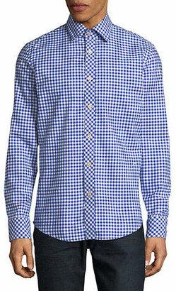 G Star Bristum Gingham Cotton Sport Shirt