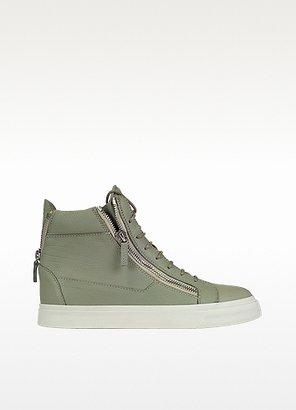 Giuseppe Zanotti Zipped High Top Leather Sneaker
