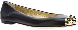 Giuseppe Zanotti Design studded cap toe ballerinas