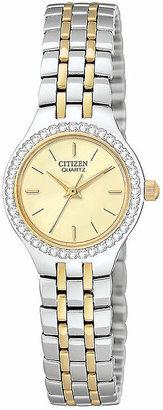 Citizen Women's Two Tone Stainless Steel Bracelet Watch 22mm EJ6044-51P