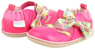 Robeez Bow Crazy Mini Shoez (Infant/Toddler) (Hot Pink Leather) - Footwear