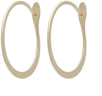 Melissa Joy Manning Oval Hoop Earrings, 14 Karat 1 pair