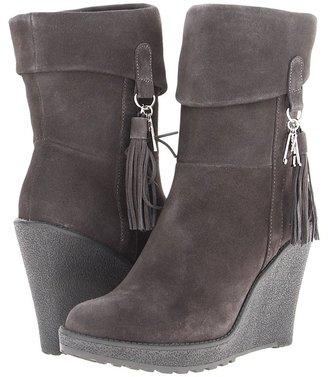 Armani Jeans Mid Wedge Short Shaft Boot (Grey) - Footwear