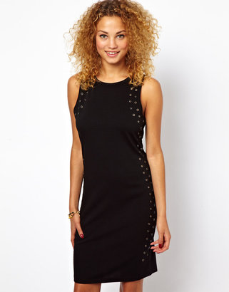 Glamorous Eyelet Bodycon Dress - Black
