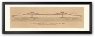 "Art.com Brooklyn Bridge"" Framed Art Print by Craig Holmes"