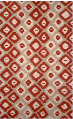 Liora Manné Liora Manne' Area Rug, Indoor/Outdoor Lamontage Vision II Ikat Diamonds Red 8' x 10'
