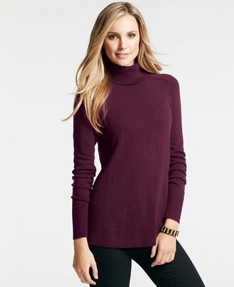 Ann Taylor Uneven Hem Turtleneck Sweater