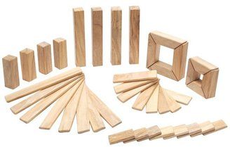 Green Baby Tegu Explorer Set: Natural Magnetic Blocks (40 pcs)