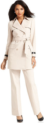 Anne Klein Suit, Belted Trench Jacket & Pants