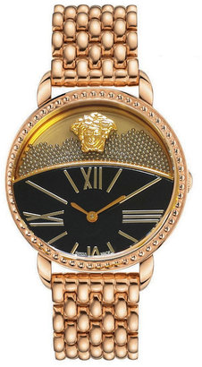 Versace Rose Golden Dual-Dial Watch
