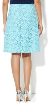 New York & Co. Floral-Embroidered A-Line Skirt