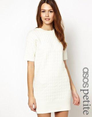 ASOS PETITE Structured Waffle Knit Dress