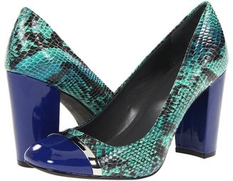 Calvin Klein Blaine (Cobalt Blue/Green Snake Print Patent) - Footwear