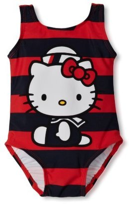 Hello Kitty Baby-Girls Infant 1 Piece Rugby Stripe Set