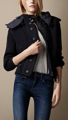 Burberry Sport Collection Hooded Knitted Jacket