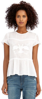 Rachel Roy Bird Embroidery Top