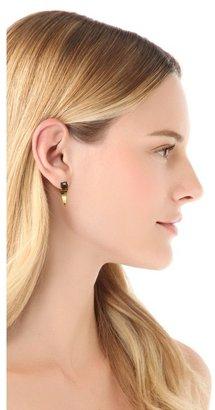 Rebecca Minkoff Curbs Front Back Stud Earrings