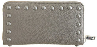 J.Crew Studded continental zip wallet