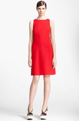 Jil Sander Navy Wool Crepe Dress