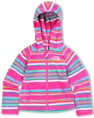 The North Face Kids - Girls' Striped Glacier Full Zip Hoodie 13 (Toddler) (Linaria Pink Stripe) - Apparel