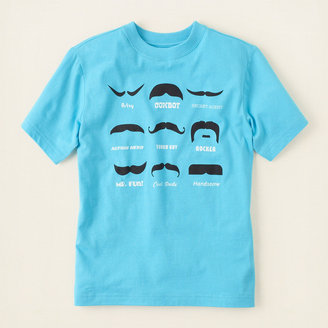 Children's Place Mustache graphic tee