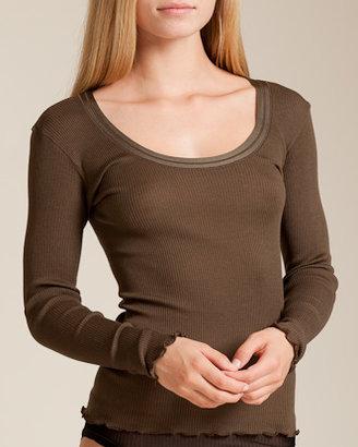 Dana Pisarra Parigi Wool/Silk Long Sleeve Top