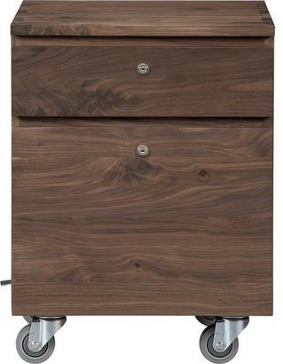 Crate & Barrel Sentry II Walnut Filing Cabinet