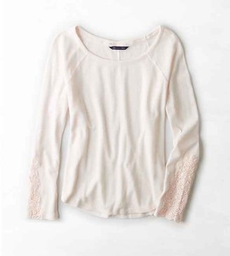 American Eagle AEO Lace Trim Thermal